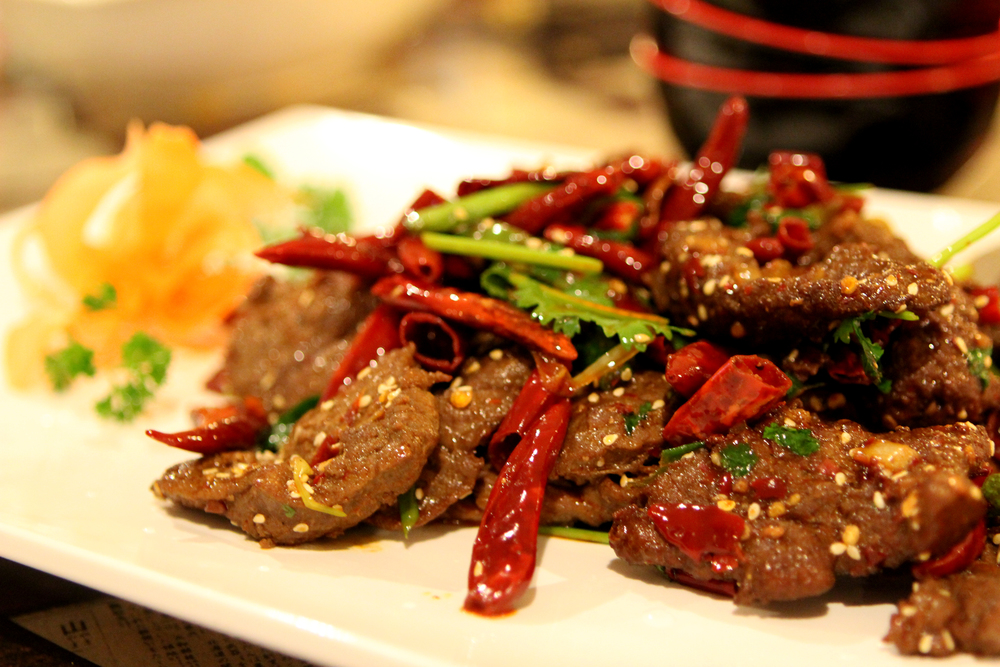 Beef in Sichuan Chili